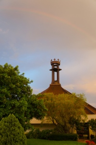 rainbow over St. Andrew