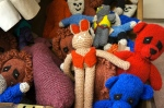 lively knitted critters
