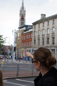 the church spire that once was the site of the hospital on which Grace did her dissertation