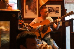 Eugene Quinn, playing with Ladlane at the Temple Bar - 8/19/2012