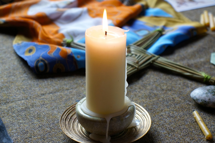 teh candle on our altar area