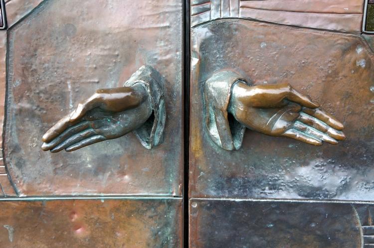 door knobs of St. Brigit Church in County Kildare