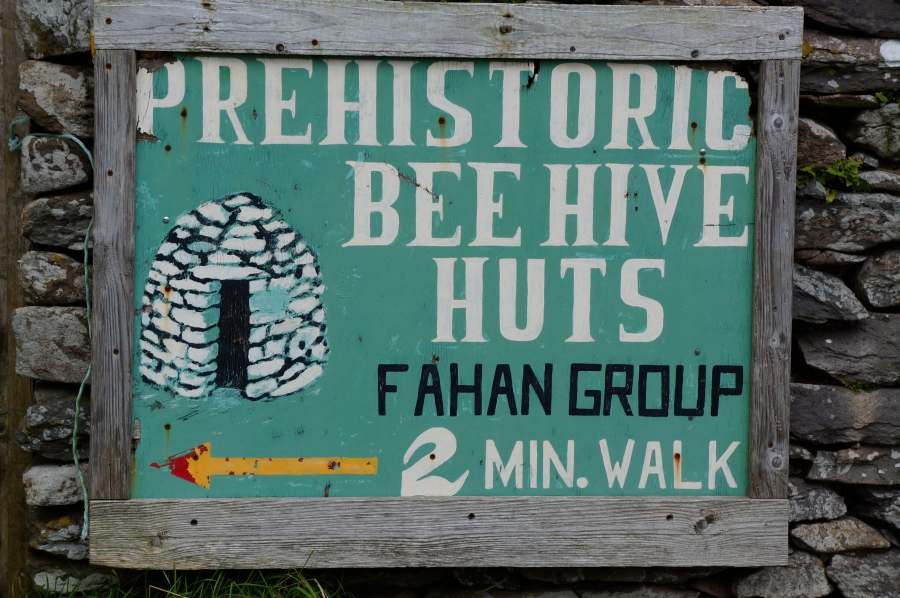 hive huts sign on the half route