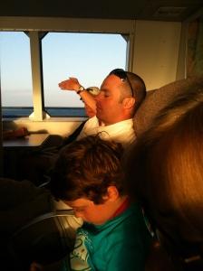 Noah asleep on the Key West Express