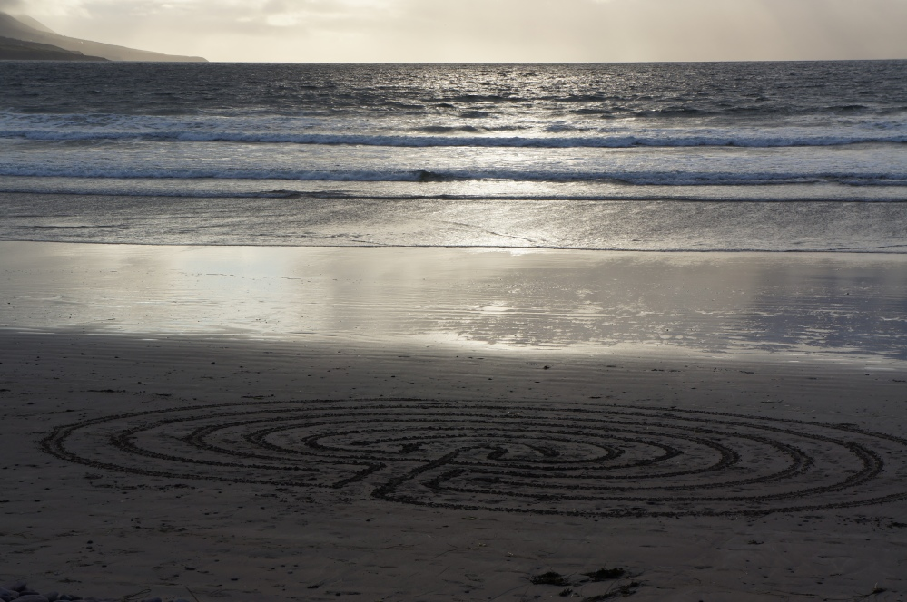 Beach labyrinth - Rossbeigh (6/6)