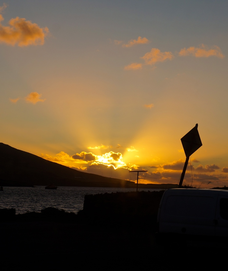 day's end - looking west over Valentia Island