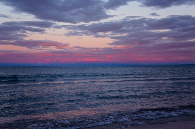 light before moon light - 9/22/2012 - Lake Superior
