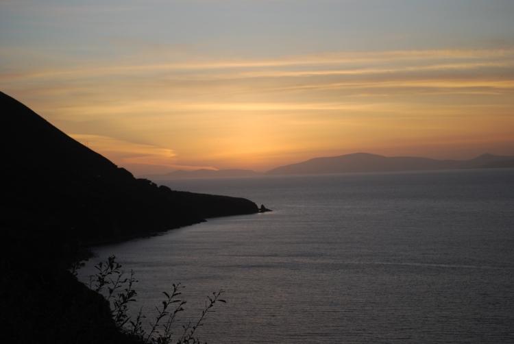 sunset on Kells Bay - 9/5/2012
