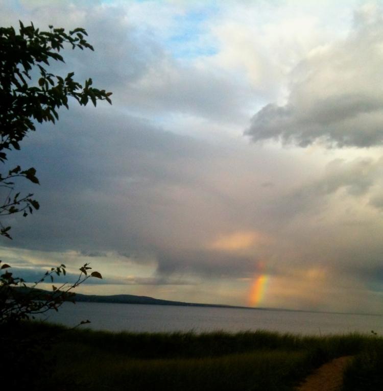rainbow over Lake Superior - 9/20/2012