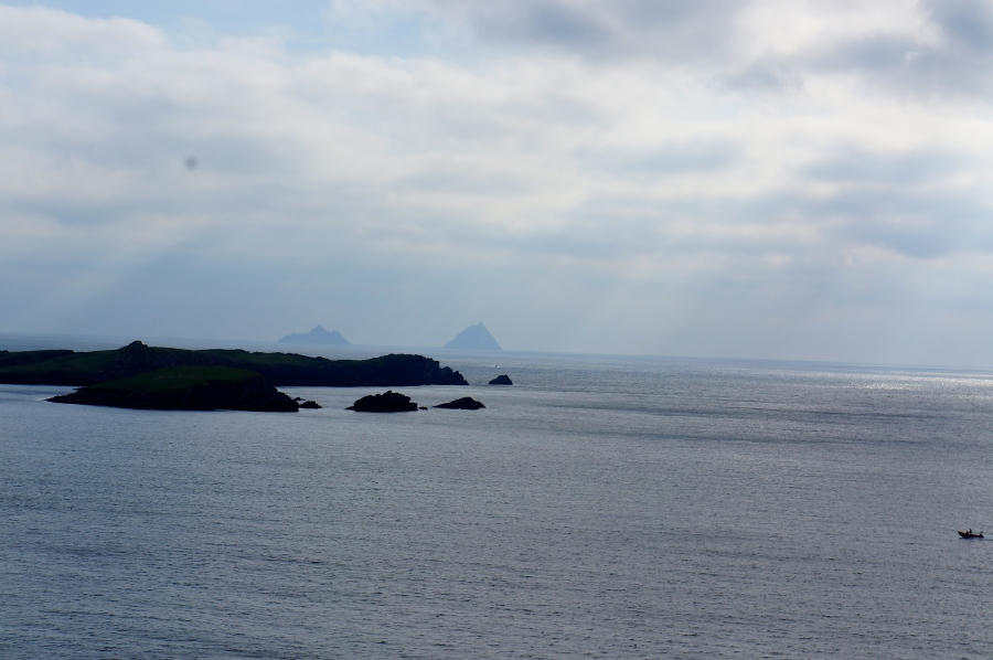 Skelligs on the horizon