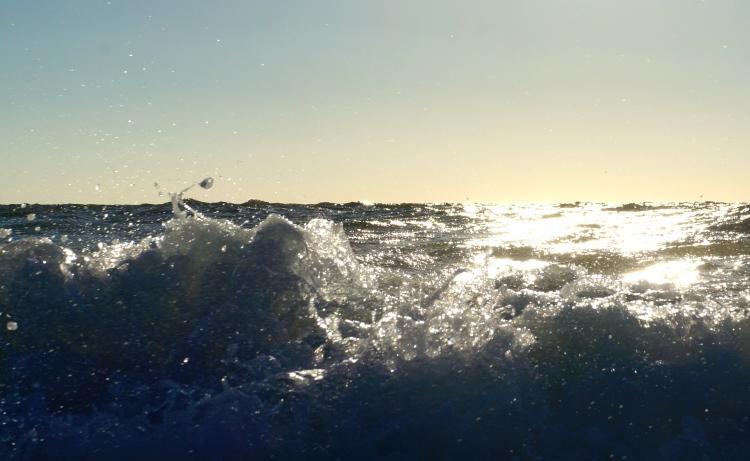 water, sun, sky - Nokomis Beach, October 20, 2012