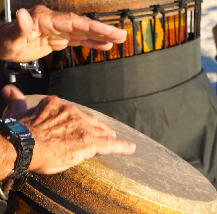 hands of a Nokomis drummer