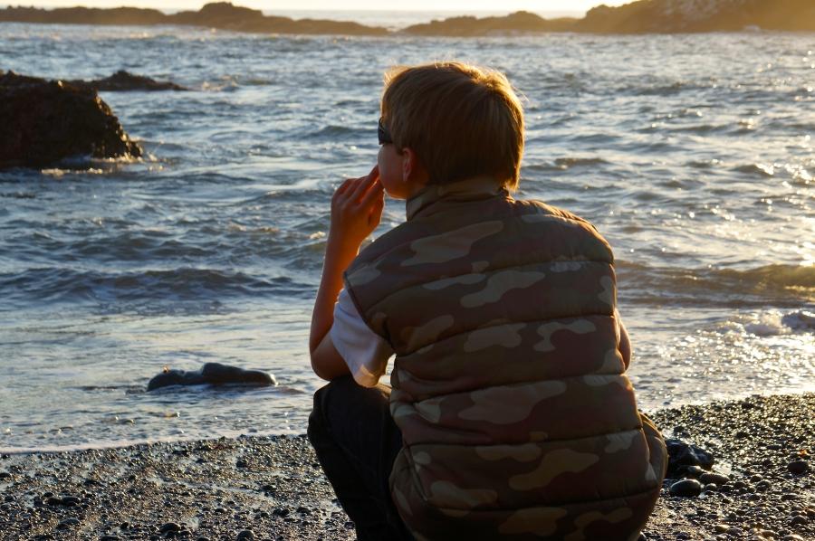 grandson imagining