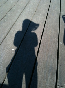 Patricia's picture of her shadow