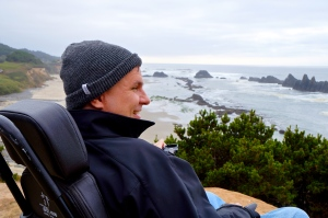 Jeff joy at Seal Rock in Oregon