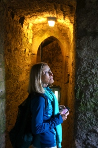Patricia's awe - at the castle of the blarney stone