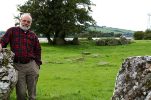 smilin' Phil in a stone circle