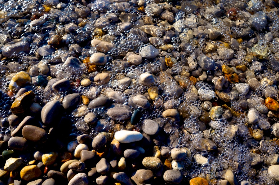 bubbles & beach stones.jpg