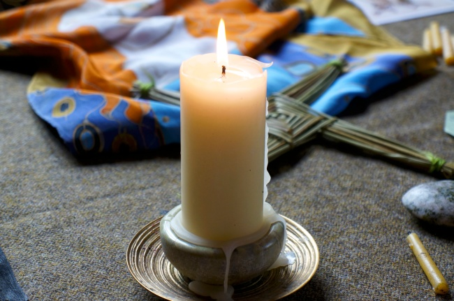 the candle continues to burn for us with the light of Bridget - Version 2