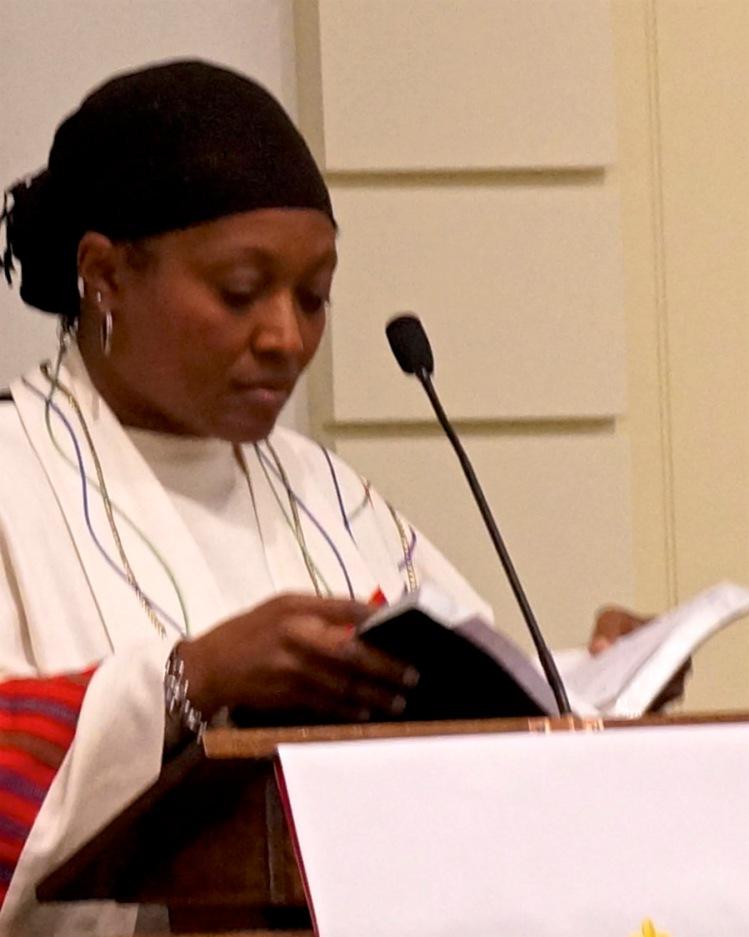 Karen Georgia Thompson preaching